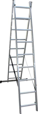 Two-part extension ladder